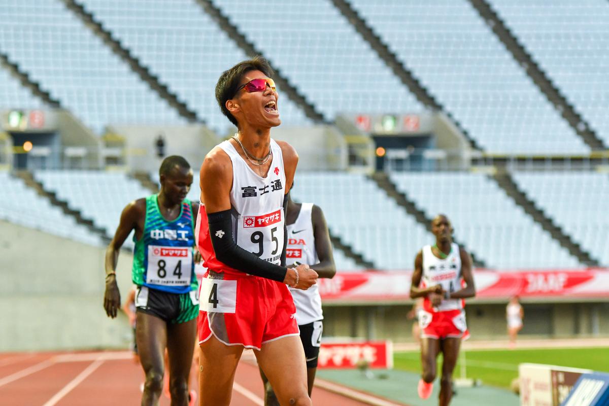 日本選手権5000m優勝の坂東悠汰選手